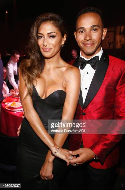 Nicole Scherzinger and Lewis Hamilton attend amfAR's 21st Cinema Against AIDS Gala Presented By WORLDVIEW, BOLD FILMS, And BVLGARI at Hotel du...