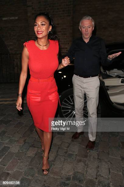 Nicole Scherzinger and Louis Walsh seen leaving The X Factor London auditions on July 5 2017 in London England