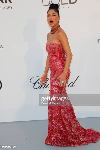 Nicole Scherzinger arrives at the amfAR Gala Cannes 2018 at Hotel du CapEdenRoc on May 17 2018 in Cap d'Antibes France