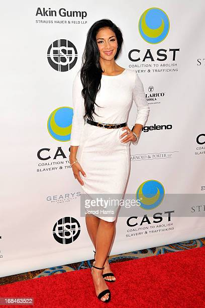 Nicole Scherzinger arrives at the Coalition To Abolish Slavery and Trafficking's 15th Annual From Slavery to Freedom gala at the Sofitel Hotel on May...