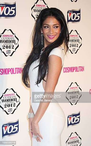 Nicole Scherzinger arrives at the Cosmopolitan Ultimate Woman of the Year awards at the Victoria Albert Museum on October 30 2012 in London England