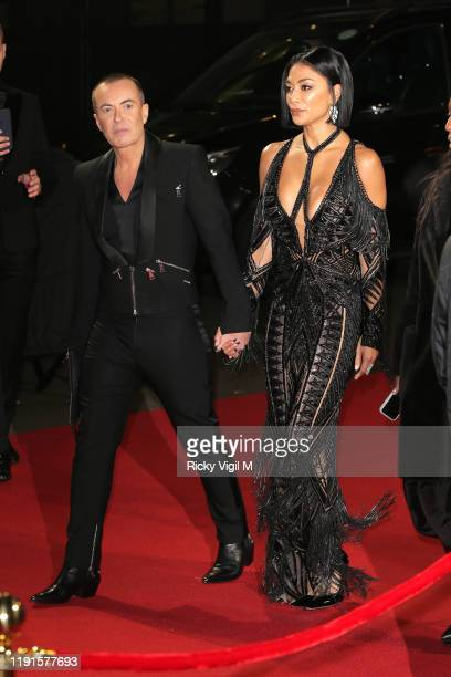 Nicole Scherzinger arrives at The Fashion Awards 2019 held at Royal Albert Hall on December 02, 2019 in London, England.