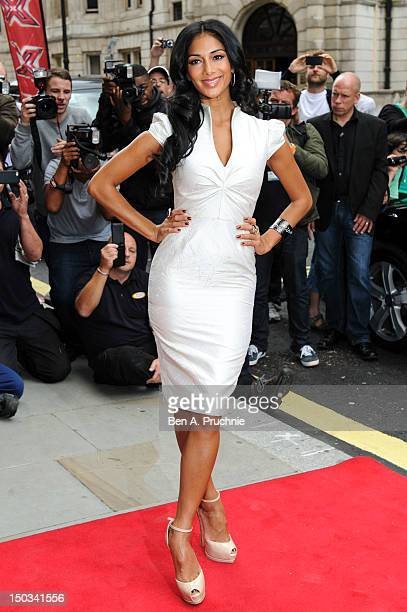 Nicole Scherzinger arrives at the Xfactor confrence at Corinthia Hotel London on August 16 2012 in London England