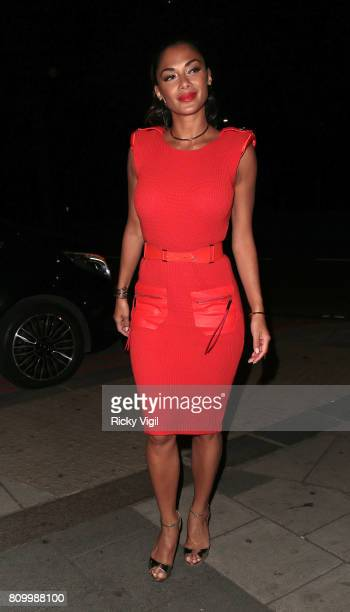 Nicole Scherzinger arrives back at her hotel after X Factor auditions on July 6 2017 in London England