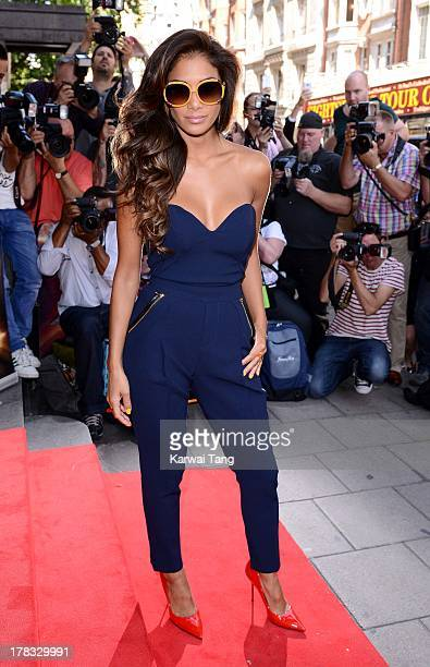 Nicole Scherzinger arrives for the XFactor Press Launch held at The Mayfair Hotel on August 29 2013 in London England