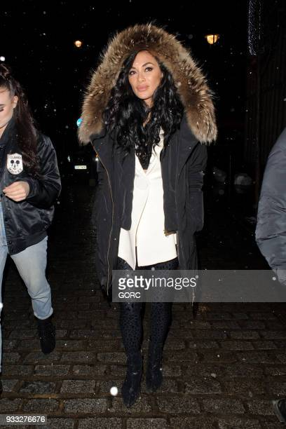 Nicole Scherzinger arriving at Cirque de Soir nightclub on March 17 2018 in London England