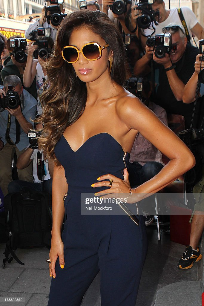 Nicole Scherzinger at The Mayfair Hotel for The X Factor press launch on August 29, 2013 in London, England.