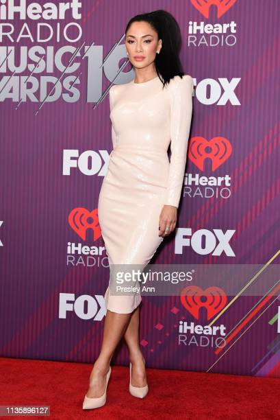 Nicole Scherzinger attends 2019 iHeartRadio Music Awards press room during the 2019 iHeartRadio Music Awards which broadcasted live on FOX at...