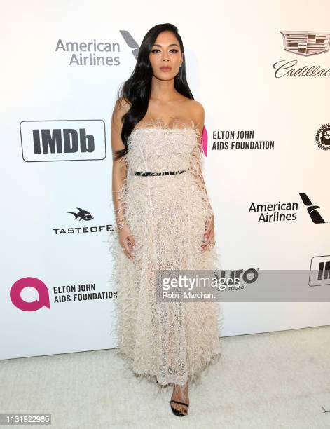 Nicole Scherzinger attends 27th Annual Elton John AIDS Foundation Academy Awards Viewing Party Celebrating EJAF And The 91st Academy Awards on...