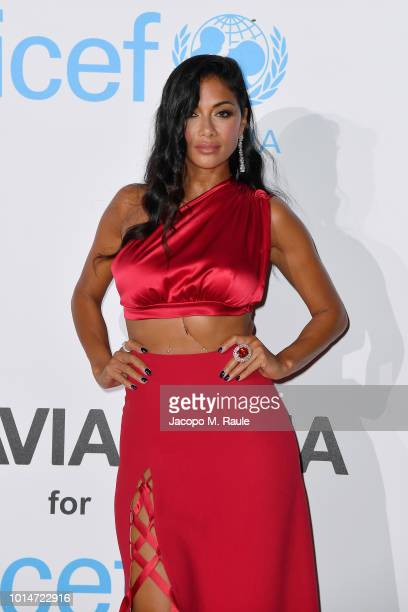 Nicole Scherzinger attends a photocall for the Unicef Summer Gala Presented by Luisaviaroma at Villa Violina on August 10 2018 in Porto Cervo Italy