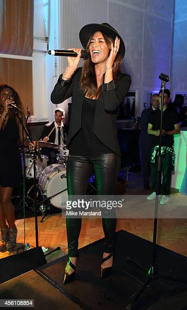 Nicole Scherzinger attends One For The Boys #SingOne4TheBoys Karaoke Night at Abbey Road Studios on September 25 2014 in London England