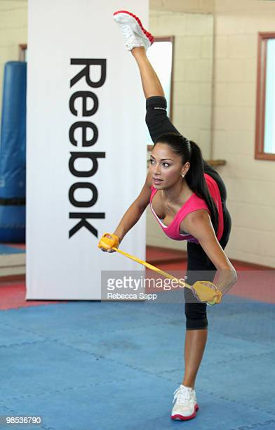 Nicole Scherzinger attends Reebok's Fit to Flex at the Fitness Factory on April 15 2010 in Los Angeles California