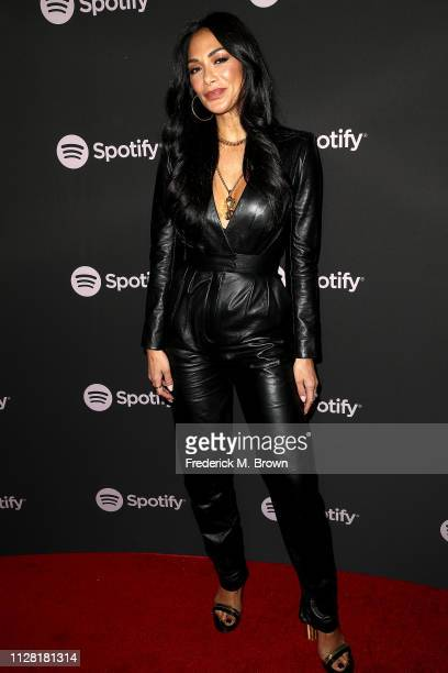 Nicole Scherzinger attends Spotify's Best New Artist Party at the Hammer Museum on February 07 2019 in Los Angeles California
