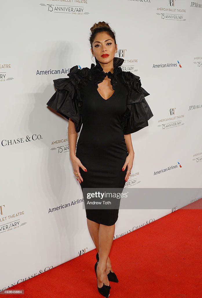 Nicole Scherzinger attends the American Ballet Theatre's 75th Anniversary Gala at David H. Koch Theater, Lincoln Center on October 21, 2015 in New York City.