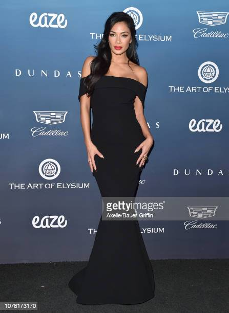 Nicole Scherzinger attends The Art of Elysium's 12th Annual Celebration Heaven on January 5 2019 in Los Angeles California
