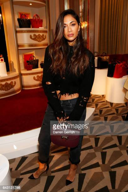 Nicole Scherzinger attends the Aspinal of London Press Day on February 20 2017 in London England