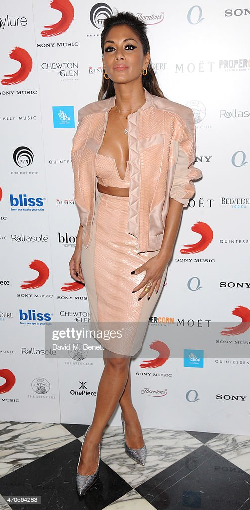 Nicole Scherzinger attends The BRIT Awards 2014 Sony after party on February 19, 2014 in London, England.
