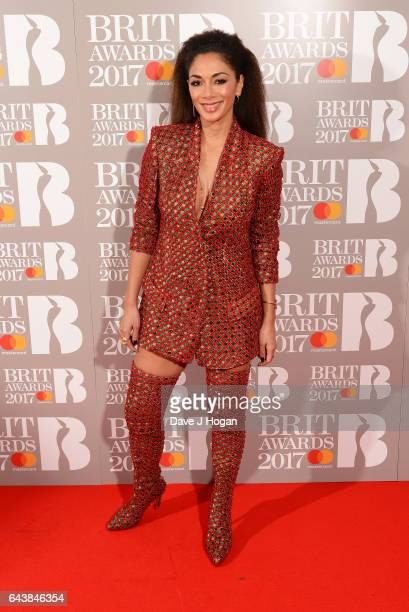 ONLY Nicole Scherzinger attends The BRIT Awards 2017 at The O2 Arena on February 22 2017 in London England