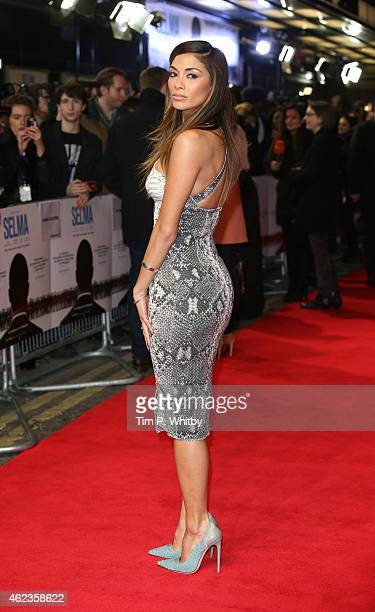 Nicole Scherzinger attends the European premiere of 'Selma' at The Curzon Mayfair on January 27 2015 in London England