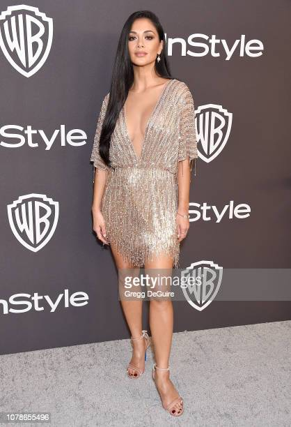 Nicole Scherzinger attends the InStyle And Warner Bros Golden Globes After Party 2019 at The Beverly Hilton Hotel on January 6 2019 in Beverly Hills...