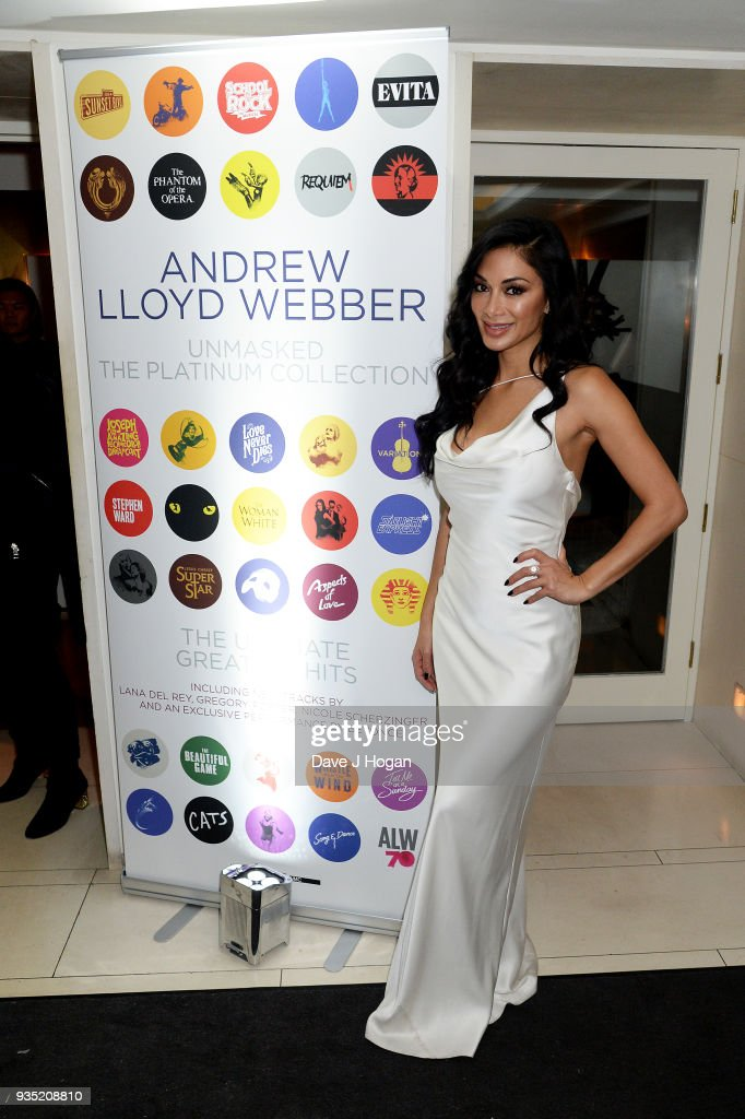 Nicole Scherzinger attends the media launch of Andrew Lloyd Webber 'Unmasked: The Platinum Collection' launch at The Ivy on March 20, 2018 in London, United Kingdom.
