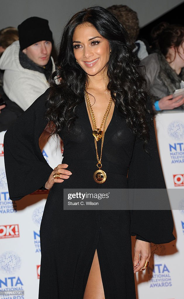 Nicole Scherzinger attends the National Television Awards at 02 Arena on January 23, 2013 in London, England.