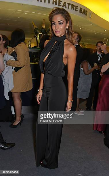 Nicole Scherzinger attends The Olivier Awards after party at The Royal Opera House on April 12 2015 in London England