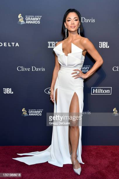 Nicole Scherzinger attends the PreGRAMMY Gala and GRAMMY Salute to Industry Icons Honoring Sean Diddy Combs on January 25 2020 in Beverly Hills...