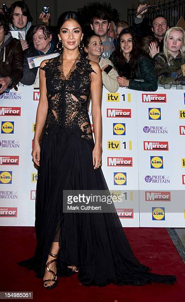 Nicole Scherzinger attends the Pride Of Britain awards at Grosvenor House on October 29 2012 in London England