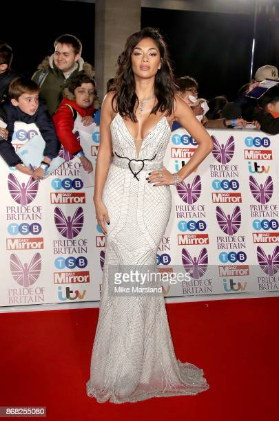 Nicole Scherzinger attends the Pride Of Britain Awards at Grosvenor House on October 30 2017 in London England