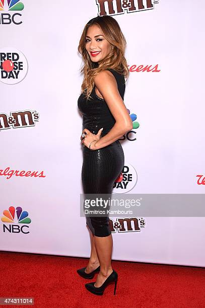 Nicole Scherzinger attends the Red Nose Day Charity Event at Hammerstein Ballroom on May 21 2015 in New York City
