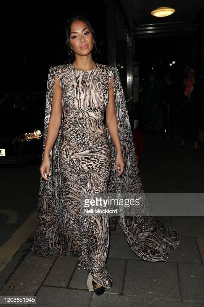 Nicole Scherzinger attends the Vogue x Tiffany Fashion & Film after party for the EE British Academy Film Awards 2020 at Annabel's on February 02,...