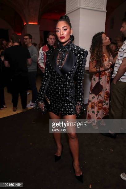Nicole Scherzinger attends the Warner Music Group Pre-Grammy Party at Hollywood Athletic Club on January 23, 2020 in Hollywood, California.