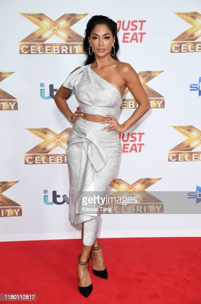 """Nicole Scherzinger attends """"The X Factor: Celebrity"""" launch photocall at The Mayfair Hotel on October 09, 2019 in London, England."""