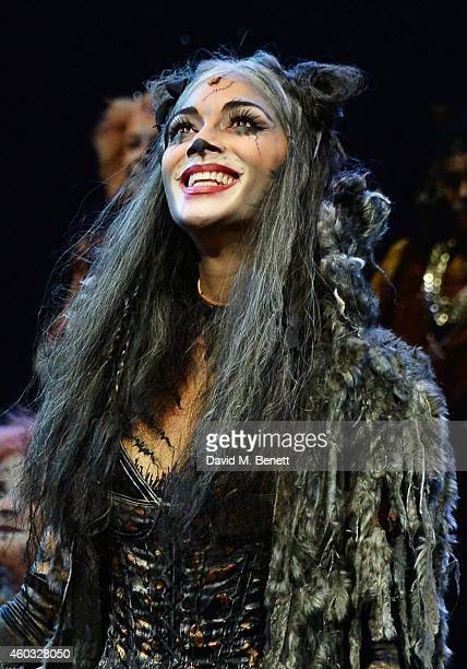 Nicole Scherzinger bows at the curtain call during the press night performance of 'Cats' as Nicole Scherzinger joins the cast at the London Palladium...