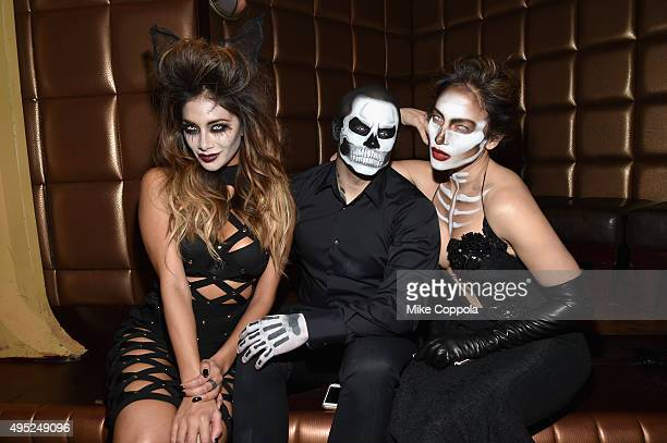 Nicole Scherzinger Casper Smart and Jennifer Lopez attend the Heidi Klum's 16th Annual Halloween Party sponsored by GSN's Hellevator And SVEDKA Vodka...