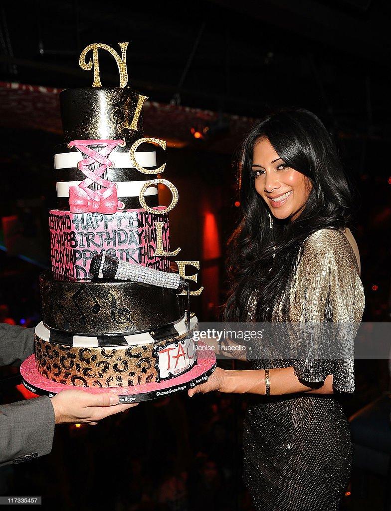 Nicole Scherzinger Celebrates Her Birthday At Tao Nightclub : News Photo