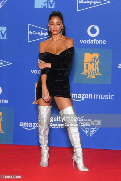 Nicole Scherzinger in the winner room during the MTV EMAs 2019 at FIBES Conference and Exhibition Centre on November 03 2019 in Seville Spain