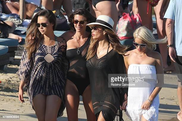 Nicole Scherzinger is seen at the beach on June 27 2015 in Mykonos Greece