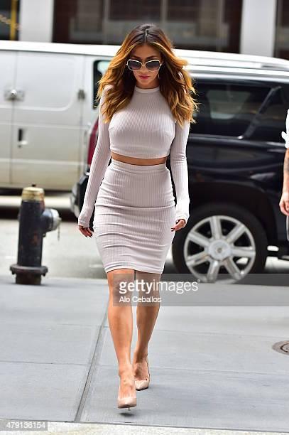 Nicole Scherzinger is seen in Midtown on July 1 2015 in New York City