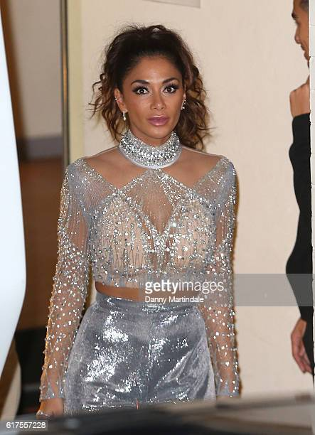 Nicole Scherzinger is seen leaving Fountain Studios after filming the X Factor on October 23 2016 in London England