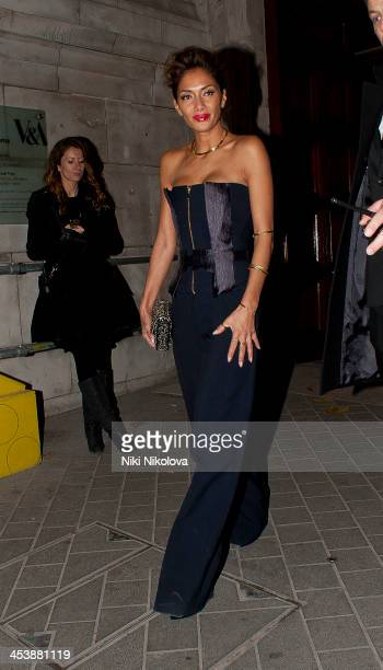 Nicole Scherzinger is sighted leaving the Cosmopolitan Ultimate Women of the Year award ceremony on December 5 2013 in London England