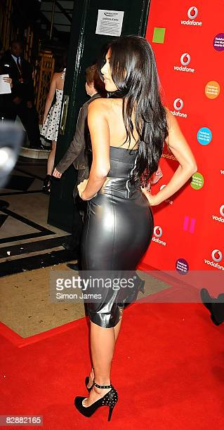 Nicole Scherzinger of the Pussycat Dolls attends the Vodafone Live Music Awards at the Carling Academy Brixton on September 18 2008 in London England