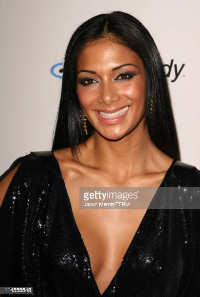 Nicole Scherzinger of the Pussycat Dolls during 2007 Clive Davis PreGRAMMY Awards Party Arrivals at Beverly Hilton Hotel in Beverly Hills California...
