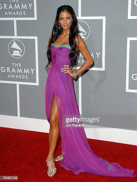 Nicole Scherzinger of the Pussycat Dolls nominees Best Pop Performance By A Duo Or Group With Vocal for Stickwitu at the The 49th Annual GRAMMY...