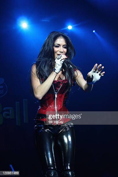 Nicole Scherzinger of The Pussycat Dolls performs live at the Q102 Jingle Ball December 14 2008 at the Susquehanna Bank Center in Camden New Jersey