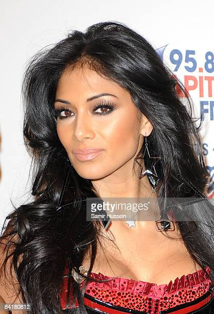 Nicole Scherzinger of the Pussycat Dolls poses at The Jingle Bell Ball at the O2 Arena on December 10 2008 in London England