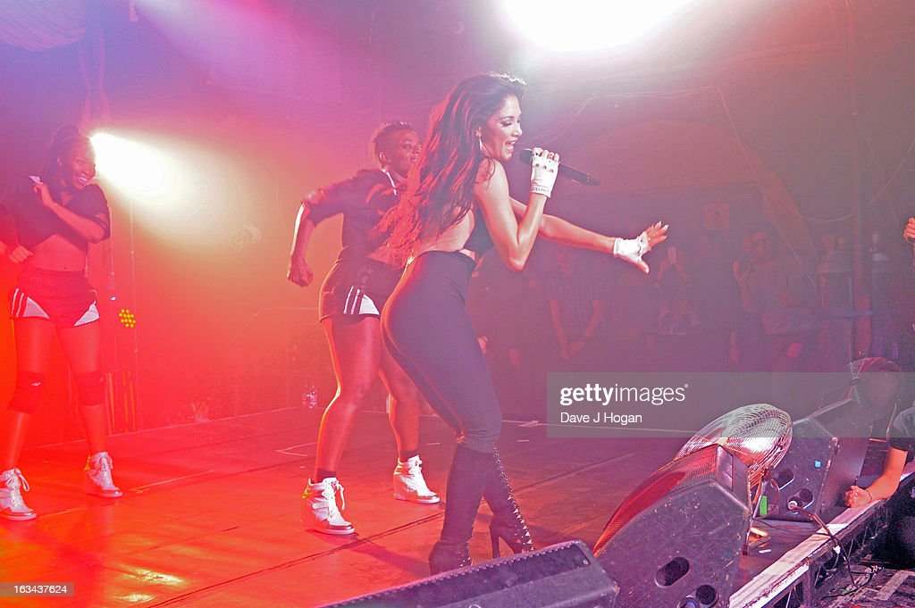 Nicole Scherzinger on stage at London's G-A-Y nightclub on March 9, 2013 in London, England.