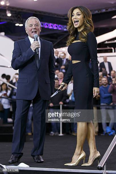 Nicole Scherzinger opens the London Boat Show at ExCel on January 9 2015 in London England Until the 18th of January the London Boat Show will...