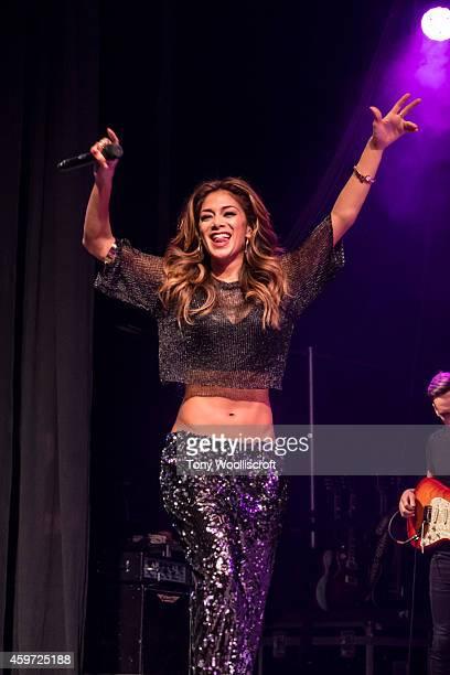 Nicole Scherzinger performs at Free Radio Live 2014 at LG Arena on November 29, 2014 in Birmingham, England.